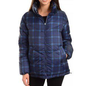 Kendall + Kylie Women's Plaid Puffer Jacket